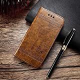 ClickCase CrocoFairy Series Faux Leather Embossing Wallet Flip Case Kick Stand Magnetic Closure Flip Cover for Apple iPhone 8 Plus + (Brown)