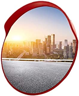 Wide Angle Mirror 45-120CM Outdoor Traffic Mirror, Shatterproof Plastic Wide-angle Lens Highway Road Side Convex Safety Mi...