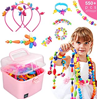 Sricam 500 Pcs Kids Snap Beads Set Creative DIY Jewelry Making Kit for Girls