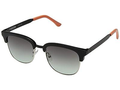 Spy Optic Stout (Matte Black Gloss Tangerine/Ocean Fade) Fashion Sunglasses