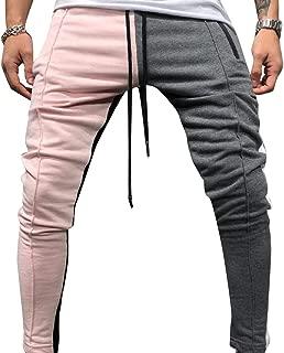 Mogogo Men's Novelty Hiphop Dance Hit Color Drop Crotch Sweatpants
