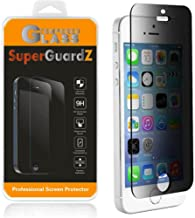 [2-PACK] For iPhone SE / 5S / 5C / 5 - SuperGuardZ Privacy Anti-Spy Tempered Glass Screen Protector, 9H, 0.3mm, 2.5D Round Edge, Anti-Scratch, Anti-Bubble