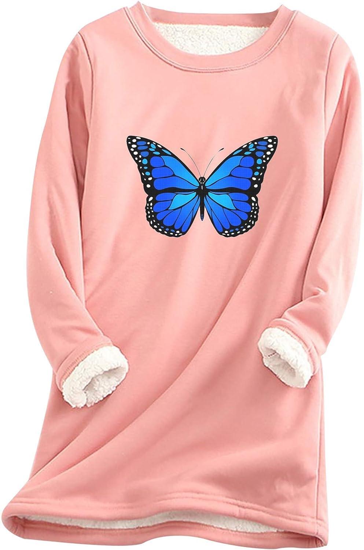 Thatso Women Thermal Underwear Winter Fleece Lined Undershirts Christmas Wine Graphics Long Johns T Shirts Tops Loungewear (Pink, L)