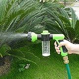 Schaumstoff Wasser Spray Gun Muster Metall als Düse - Spritzpistole zur Befestigung am Gartenschlauch