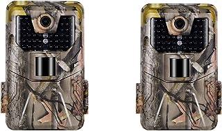 #N/A 2 Pack 20MP Wildlife Trail Camera HC900A 44 LED & 32GB TF Card IP65 Track Cams