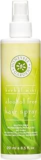 Honeybee Gardens Hair Spray Alcohol Free, Herbal Mint, 8.5 Fluid Ounce