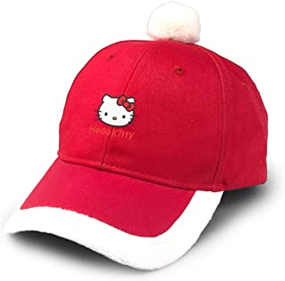 Fashion Christmas Baseball Cap,Logo Hello_Kitty Christmas Hat Red/White Adult Male and Female/Child All Can