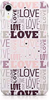 Loud Universe Case for iPhone XR Wrap Around Edges Valentines Day Couples Love Heart Pattern Sleek Design Heavy Duty Rugge...