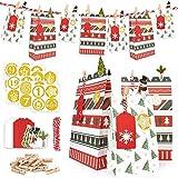 ONEHAUS Adventskalender zum befüllen groß, Geschenk Papiertueten Zum Selber Befüllen Basteln...