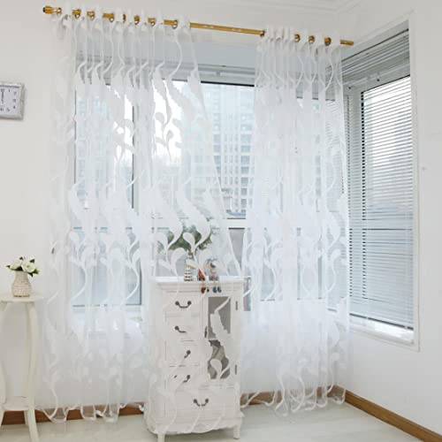 Amazing Keepwin Sheer Curtains, Wheat Printed Voile Curtains Window Curtains /Drape/Panels/Treatment