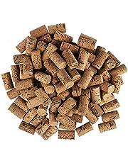 Ideen mit Herz Corchos de vino para manualidades, 4,5 cm de largo, 2,4 cm de diámetro, 100 unidades, color oscuro