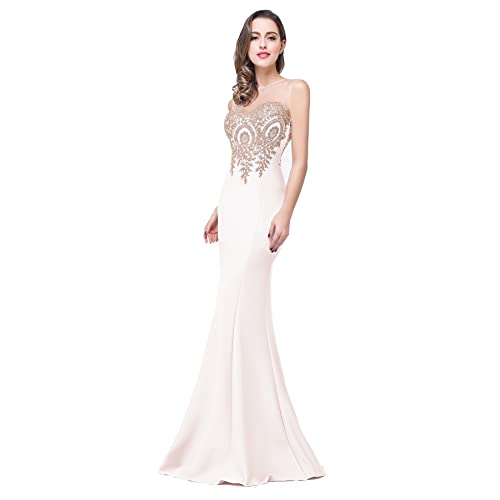 466a9cdaaa0 Babyonline Mermaid Evening Dress for Women Formal Lace Appliques Long Prom  Dress