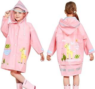 Wetry Poncho Impermeabile Bambini Camuffare Mantella Antipioggia con Posizione Borsa Cappotto di Pioggia 90-170 cm
