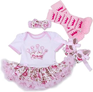 A Suit Tutu Skirts for 20-22 inch Dolls birthday Baby doll dress Baby Girl Clothes Shoe Headband Socks (j)