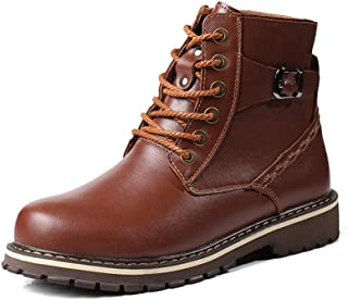Men's Fashion Boots Casual Classic Autumn and Winter Retro Fleece Inside High Top Boot Quality (Color : Black, Size : 49 EU)