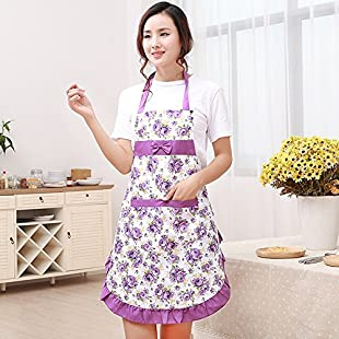 Customer reviews VLUNT Hot Lovely Waterproof Cheap Funny Aprons Pink Girls Women Cupcake Shop Fashion Apron with Pocket