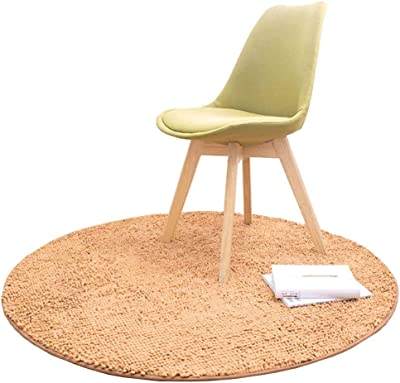 LJFYXZ Luxury Round Rugs Ultra Soft Play Tent Rug for Kids Baby Bedroom Shaggy Circle Carpet 80/100/120 cm (Color : Champagne, Size : 80cm)