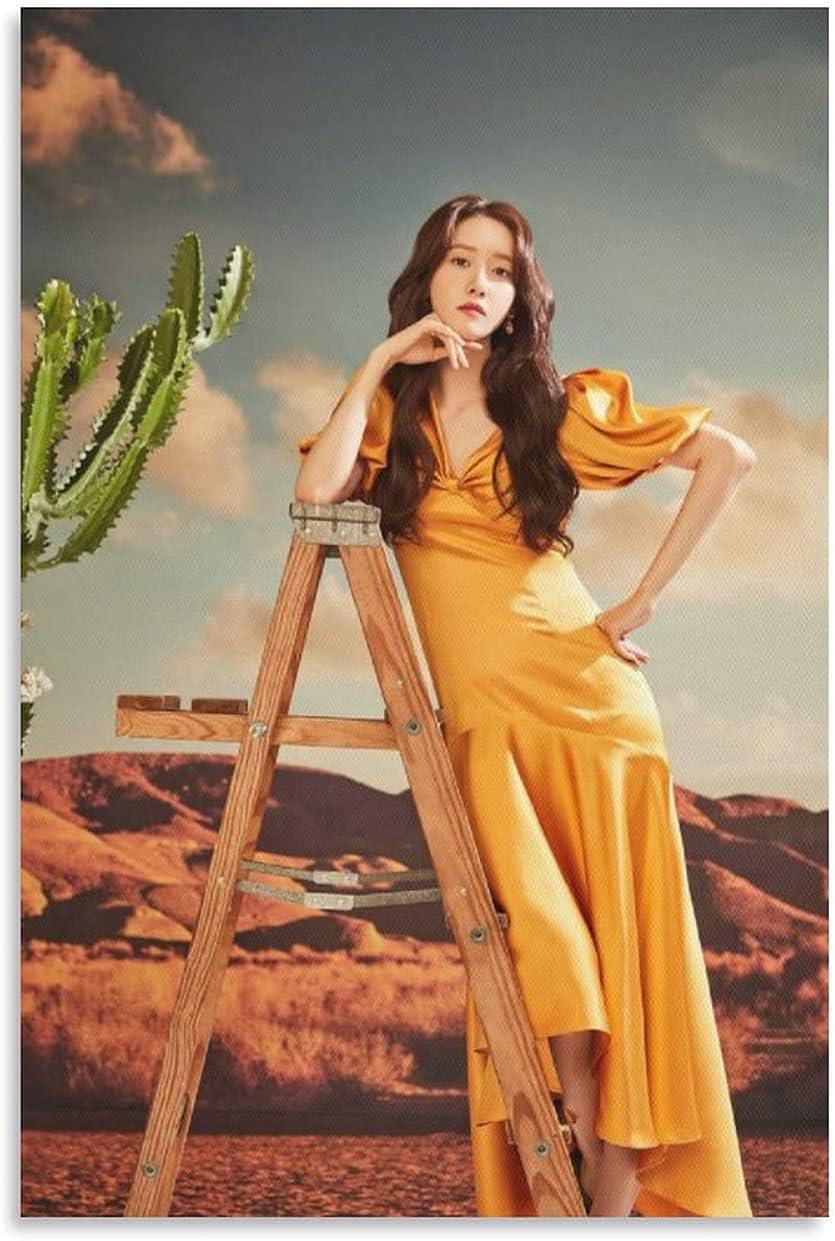 JIUHUI Yoona Kpop Poster Magazine Dress safety Yellow Photo Deco Animer and price revision