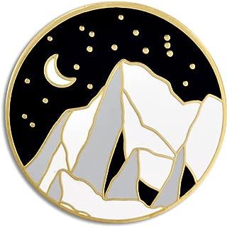 Moonlight Mountain Jewelry Enamel Outdoor Nature Lover Lapel Pin