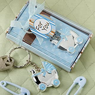 FASHIONCRAFT Blue Baby Carriage Design Key Chains, 30