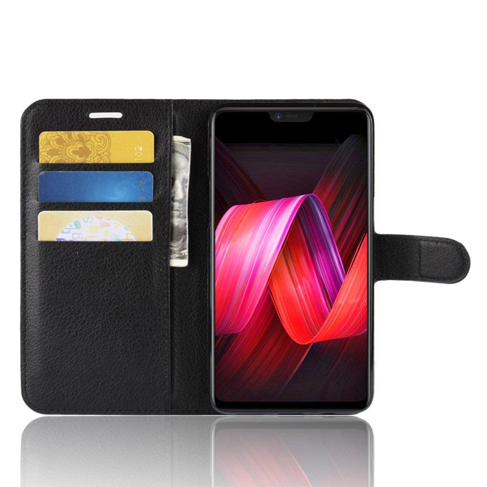 Funda para OPPO R15 Pro Faux Cuero Billetera con Stand Función Carcasa para OPPO R15 Pro (Negro): Amazon.es: Electrónica