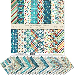 Patterned scrapbook paper on Amazon