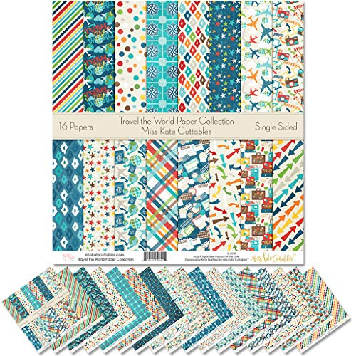 Pattern Paper Pack - Travel The World - Scrapbook Specialty Paper