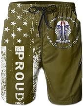 HANINPZ 173 Airborne Brigade DUI Men's Swim Trunks Beach Short Board Shorts