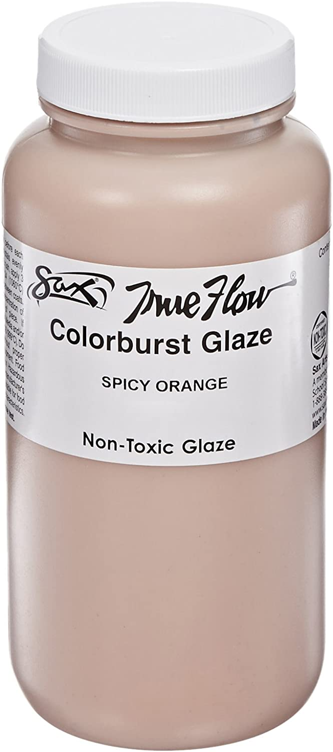 Sax True Flow colorburst Glaze  Pint  Spicy orange