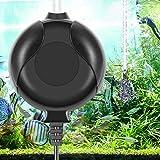 ELETEK Bomba de oxígeno para acuario, mini bomba de aire silenciosa para acuarios y nanoacuarios con válvula antirretorno, gancho y ventosa