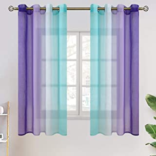 BGment Ombre Sheer Curtains for Kids Room, Faux Linen...