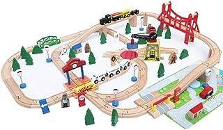 High quality 100 Pcs Train Railway Set Track Racing Tracks Set Rail Car Slot Car Vehicle Playsets Splicing Track Assembly ...