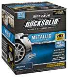 Rust-Oleum 299745 Rock-Solid Metallic Garage Floor Coating Kit, 70 fl oz, Brilliant Blue