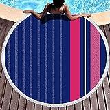 Chunwei Toalla de Manta de Playa Redonda, Toallas de Playa para Mujer, Toalla de...