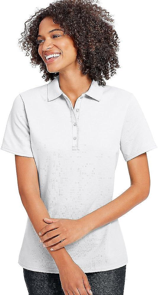Hanes X-Temp Women's Pique Polo Shirt_White_XL