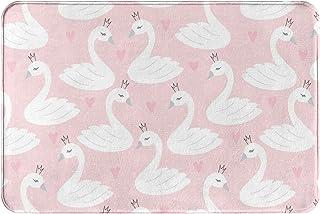 WOWUSUO Swan Princess Bath Mat Cartoon Bird Non Slip Super Bathroom Rug Indoor Carpet Doormat Floor Dirt Trapper Mats Shoe...