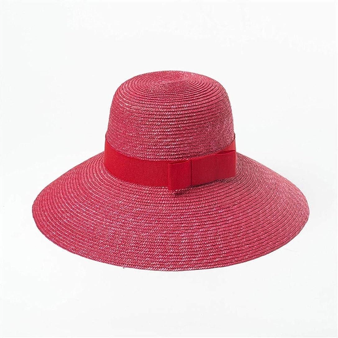 レッスンディーラー発動機春と夏のファッションカジュアル弓装飾色麦わら帽子屋外旅行サンシェードビーチ麦わら帽子