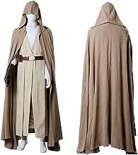 Cosplaybar Mens Halloween Costume Luke Skywalker The Last Jedi Tunic Cloak Outfit Cosplay