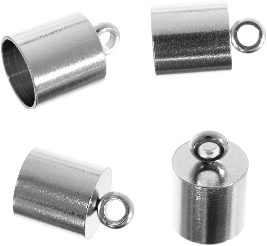 Craft County 10 Max 86% OFF Piece Stainless Steel – Cap Max 55% OFF Silver End Cord
