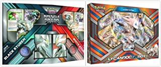 Pokemon Trading Card Game Black Kyurem vs White Kyurem Battle Decks and Lycanroc GX Collection Box Bundle, 1 of Each