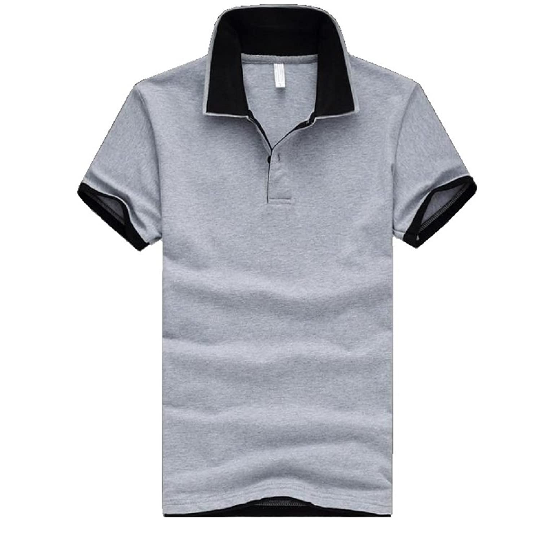 (Two Steps Behind) メンズ 半袖 無地 ポロシャツ ビックサイズ ゆったり 大きいサイズ RE54