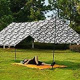 Heshan Toldo impermeable 4 en 1 para la lluvia, para tienda de campaña, refugio de pícnic, tapete de tela de tierra, combo multiusos para scooter al aire libre