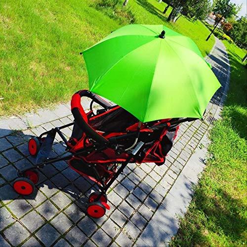 NJSDDB paraplu Baby Carriage Paraplu Familie Verstelbare Parasol Effen Kleur Winddicht Dual-Use Outdoor Paraplu Veel, Lichtgroen