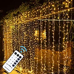 WINDOW CURTAIN CHRISTMAS LIGHTS: Add a wonderful wall backdrop as you decorate for your event with 9.8x9.8ft MAGGIFT 304 led warm white curtain fairy lights. Hang them on doors and windows or behind fabrics to create a truly magical look. CONNECT UP ...