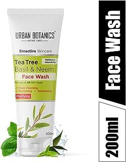 UrbanBotanics® Tea Tree, Neem & Basil Face Wash - Paraben Free - SLS Free - SLES Free - Face Wash, 200ml