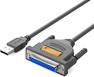 UGREEN USB to DB25パラレル プリンタ アダプター ケーブル IEEE1284準拠 オス-メス プリンタ インクジェット レーザー スキャナなどに対応2m