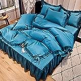 funda de edredón 90-Falda de seda de hielo Cuatro conjuntos de sábanas de seda de día de verano estaban cubiertas con...