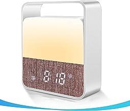 Digitale wekker met nachtlampje, aanraaksensor nachtkastje led tafellamp, dimbare wake up klok nachtlampje voor kinderen s...