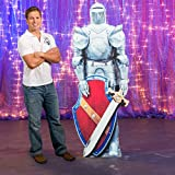 6 ft. 4 in. Fairytale Medieval Kingdom Fantasy Knights Suit of Armor Standee Standup Photo Booth Prop Background Backdrop Party Decoration Decor Scene Setter Cardboard Cutout