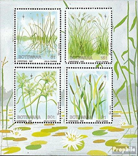 Prophila Collection Botswana Block20 (kompl.Ausg.) 1987 Weihnachten: Schilfgräser (Briefmarken für Sammler) Pflanzen / Pilze